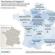 Comment redécouper la France en 10 régions