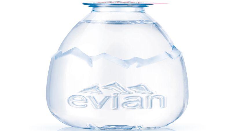 Super Evian invente la goutte d'eau à 1 euro RK57