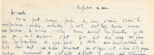 Le manuscrit inédit de Sartre vendu plus de 50.000 euros