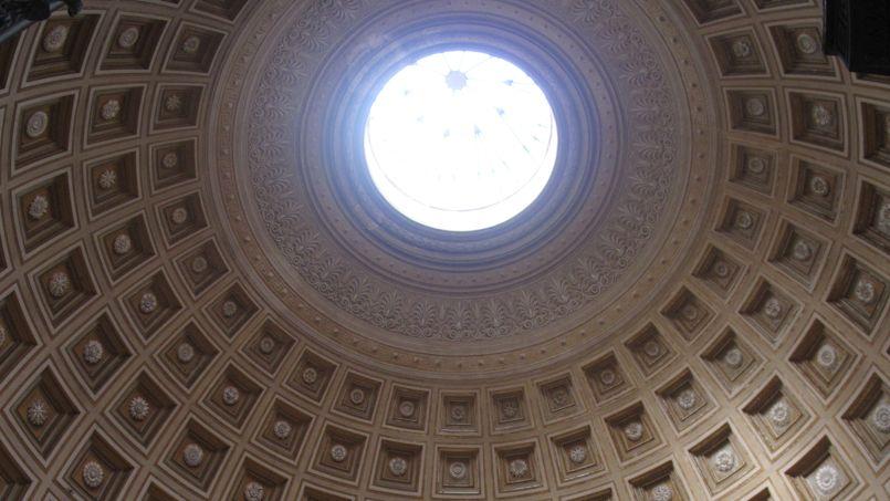 La voûte de l'Eglise du Panthéon à Rome. Photo: JC Marmara/ Le Figaro
