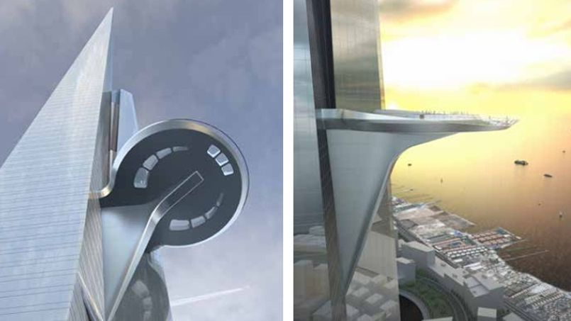 Une terrasse sera construite au 157e étage.