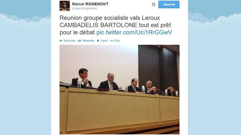 Sur Twitter, les députés PS racontent leur huis clos avec Valls