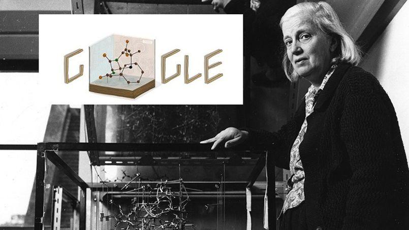 Un doodle sur la chimiste anglaise Dorothy Hodgkin