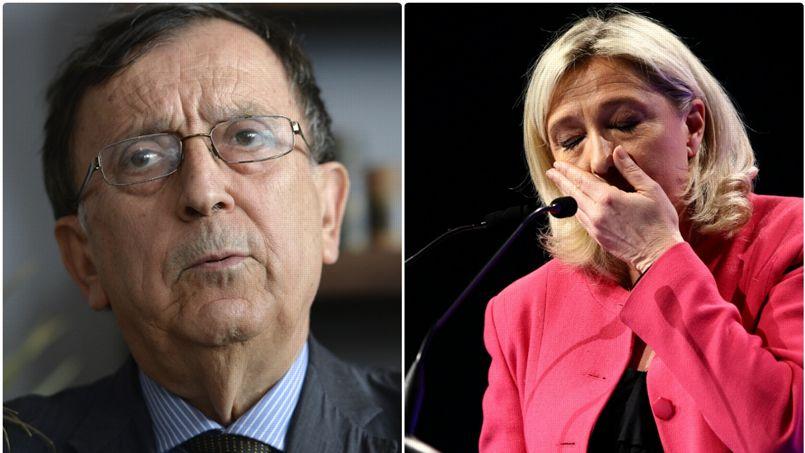 L'ancien vice-présidente du FN, Jean-Claude Martinez et Marine Le Pen, présidente du Front national. Montage Le Figaro/Abaca press/AFP