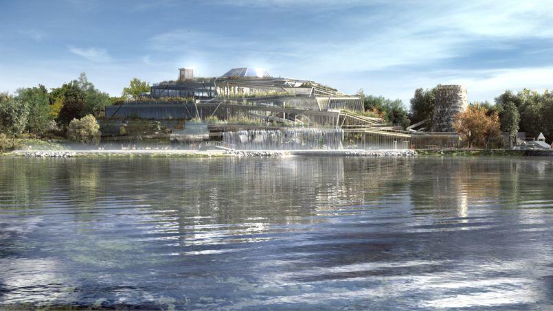 Aqualagon est un complexe aqualudique de 11.500 m2 qui se prolongera par un lagon extérieur chauffé toute l'année à 30°C grâce à la géothermie.