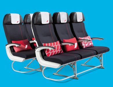 Les sièges de la classe éco. (Air France)