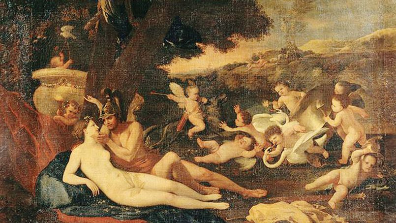 <i>Mars et Vénus </i><i>(détail)</i> devrait être visible au Musée du Louvre au printemps 2015, vraisemblablement pour l'exposition consacrée à Poussin et à ses rapports à la religion.