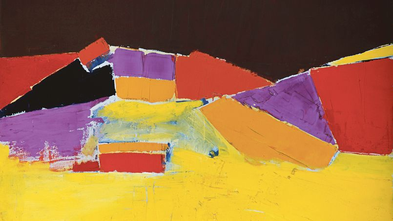 <i>Agrigente</i>, huile sur toile, Nicolas de Staël, 1954