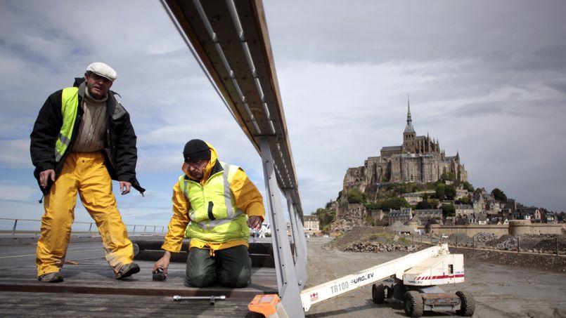 le pont du mont michel est enfin pr 234 t