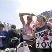 Manifestation des intermittents: des fenêtres de Filippetti vers Matignon