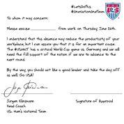 Klinsmann rédige une dispense pour les supporteurs américains