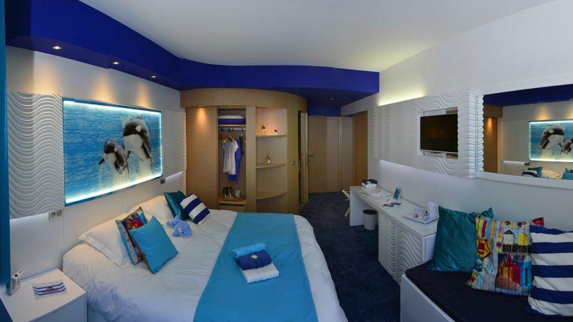 100 chambres seront proposées au visiteur du parc aquatique.