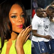 Mondial 2014: Rihanna et Mark Wahlberg, fans des Bleus