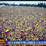 500 supporters au Bourget, 100 000 à Bogota pour les Colombiens