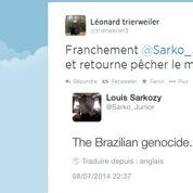 Nouvel échange d'amabilités entre les fils de Trierweiler et Sarkozy sur Twitter