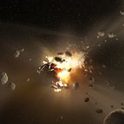 Déluge de météorites à l'ère primaire