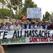 Manifestation propalestinienne sous haute surveillance à Paris