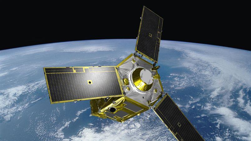 Vue d'artiste d'un des deux satellites d'observation de type Pléiades ...