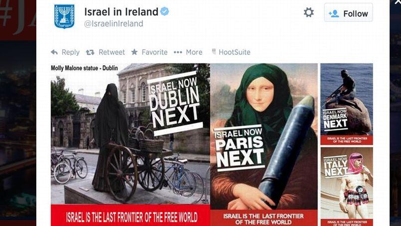 Outre Monna Lisa et David, deux monuments européens ont été aussi détournés: la petite sirène de Copenhague s'est trouvée dotée d'un fusil et la statue de Molly Malone à Dublin d'un niqab.