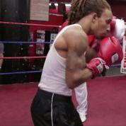 Ribéry met les gants de boxe sur un ring