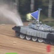 Un championnat du monde de biathlon avec des tanks en Russie