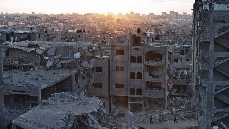 Vue du nord dévasté de la bande de Gaza, le 16 août.