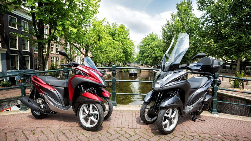 les scooters yamaha tricity mbk triptyk trois roues pour conqu rir la ville. Black Bedroom Furniture Sets. Home Design Ideas