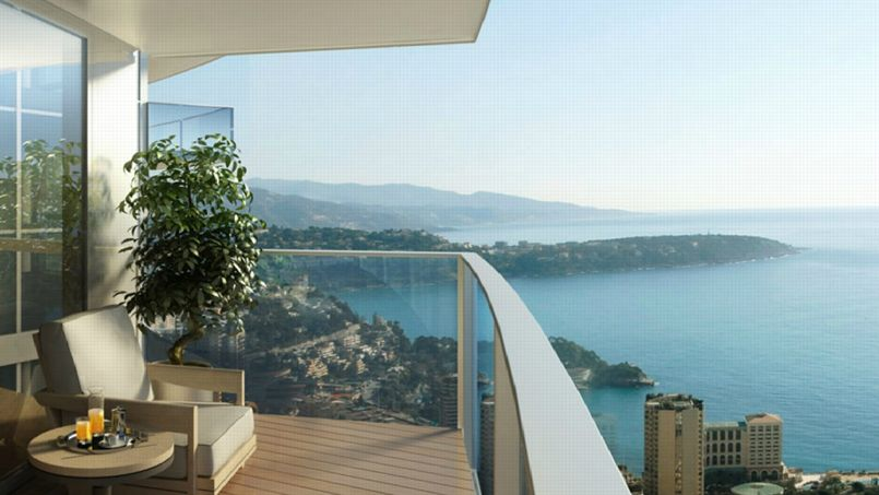 Une terrasse de ce luxueux penthouse. Capture d'écran @ www.odeon.mc.