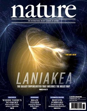 La couverture de Nature du 4 septembre 2014. <i>(Crédits: Nature, Illustration: Mark A. Garlick; Source: Daniel Pomarède)</i>