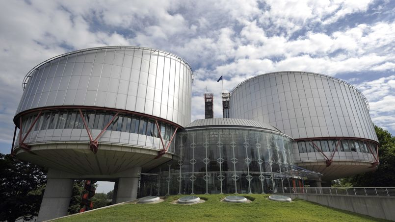 Vue du bâtiment de la Cour Européenne des Droits de l'Homme, à Strasbourg.