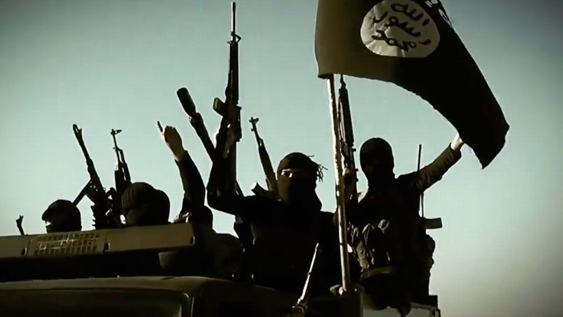 Capture d'écran d'une vidéo de propagande diffusée par l'État islamique.