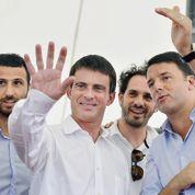 Manuel Valls s'affiche en Italie avec Matteo Renzi