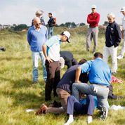 Un golfeur abandonne le KLM Open blessé par une balle de golf