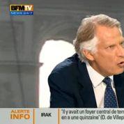 Pour Villepin, une intervention en Irak est «absurde et dangereuse»
