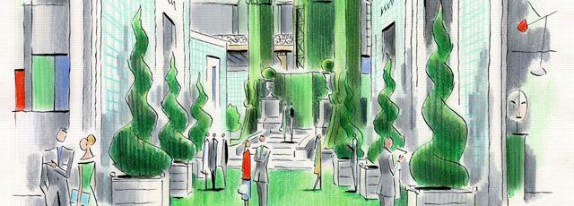 la biennale des antiquaires vue par le dessinateur francois avril