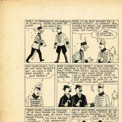 Une planche de Tintin retrouvée derrière un meuble