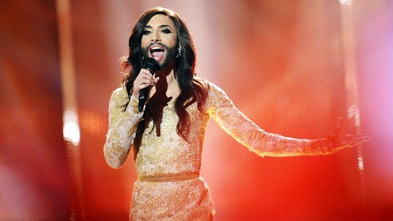 Conchita Wurst durant sa performance à l'Eurovision en mai dernier.
