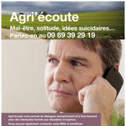 Un numéro d'appel contre le suicide des agriculteurs