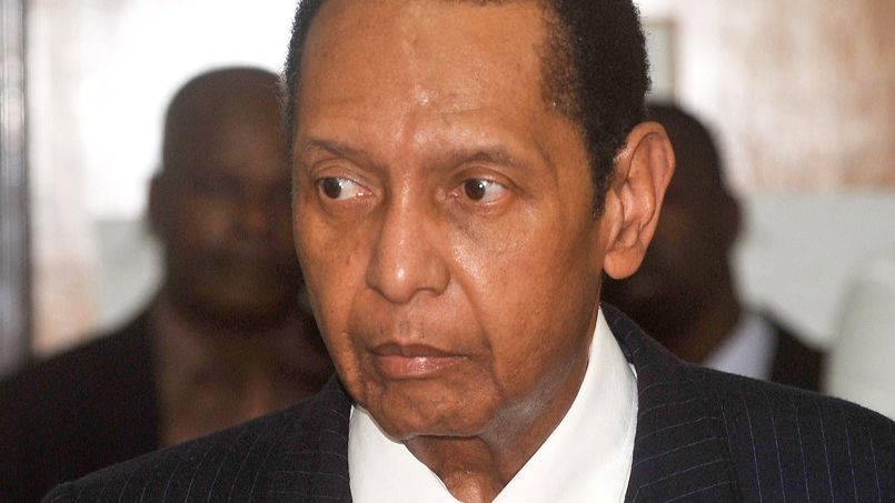 Jean-Claude Duvalier en février 2013 à Port-au-Prince.