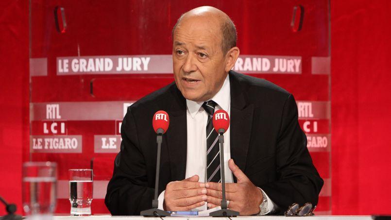 Jean-Yves Le Drian sur le plateau du Grand Jury.