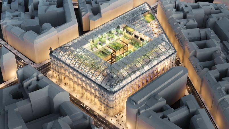 Le projet de transformation de la Poste du Louvre, à Paris. Crédit: Dominique Perrault Architecture
