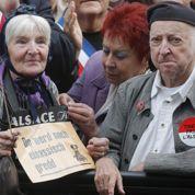 Alsace : manifestation contre la fusion de la région