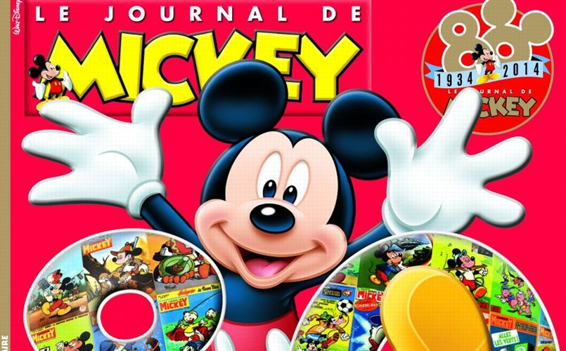 80 ans le journal de mickey reste dans le trio de t te de la presse enfant. Black Bedroom Furniture Sets. Home Design Ideas