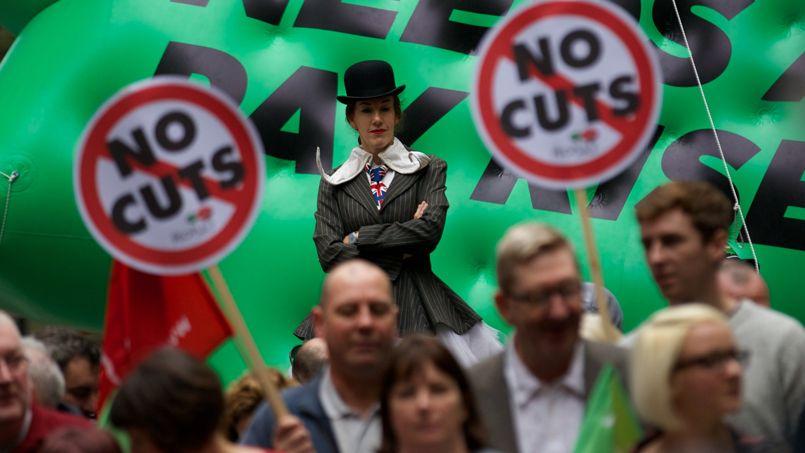 La manifestation, à Londres.