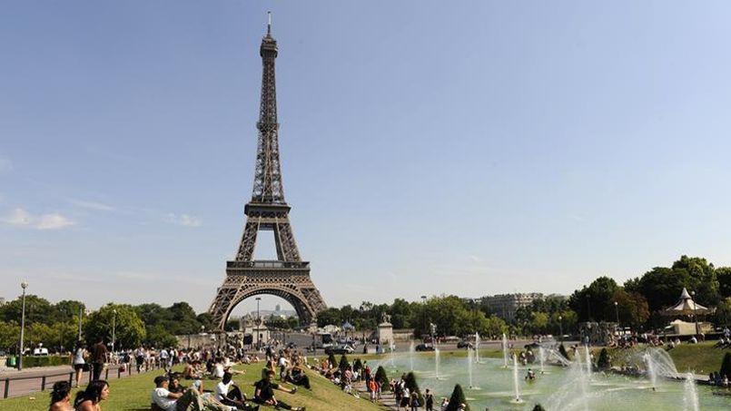Vue de la Tour Eiffel depuis la place du Trocad�ro