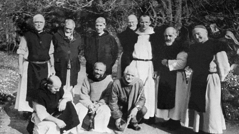 Les moines fran�ais de Tib�hirine, dans une photo non dat�e.