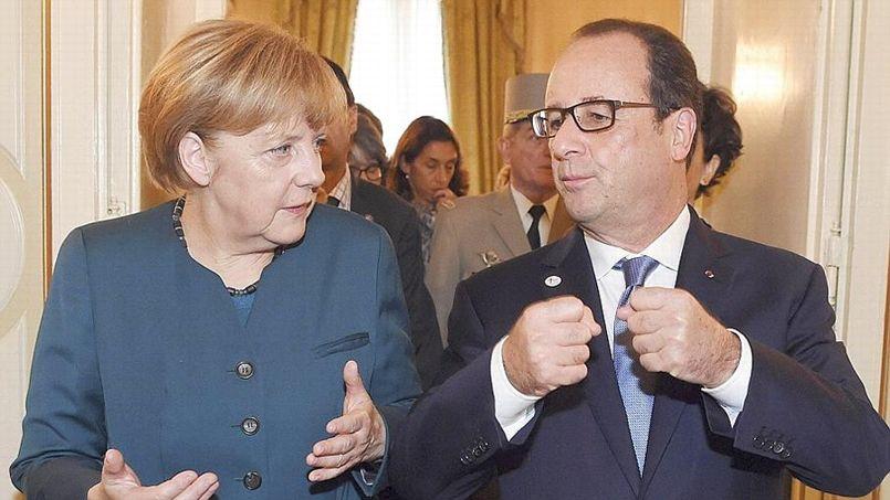 Angela Merkel et Fran�ois Hollande au sommet Asie-Europe � Milan, la semaine derni�re