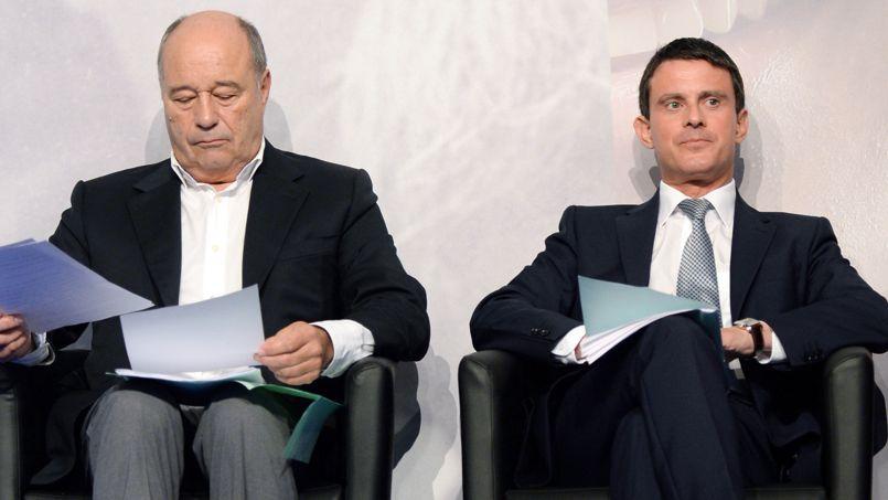 Jean-Michel Baylet et Manuel Valls