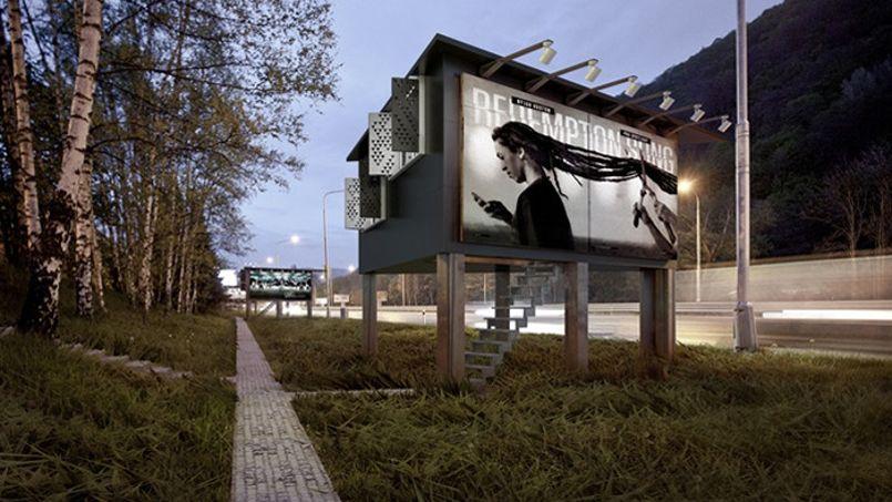 Transformer les panneaux publicitaires en domicile pour SDF