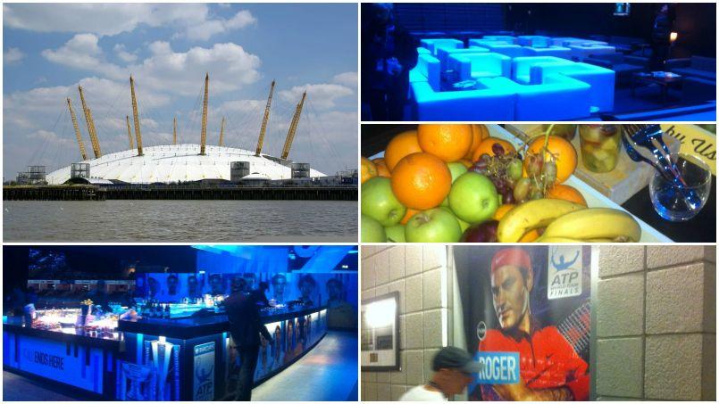 Visite des coulisses de l'O2 Arena pendant le Masters